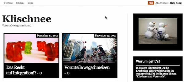 """""""www.klischnee… – Vorurteile wegschmelzen"""""""