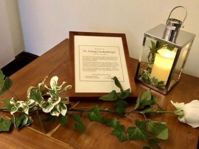Wir trauern um Dr. Georg Landenberger       (5.10.1952 – 9.11.2019)