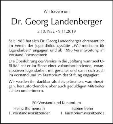 Traueranzeige Landenberger
