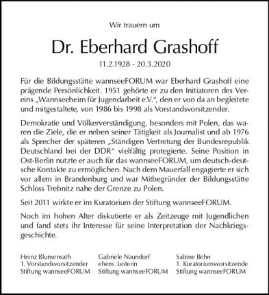 Anzeige Grashoff