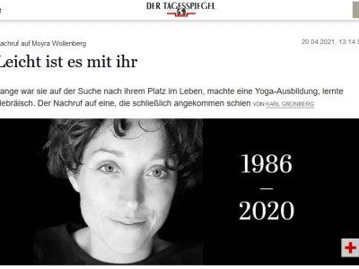 Nachruf auf Moyra Wollenberg