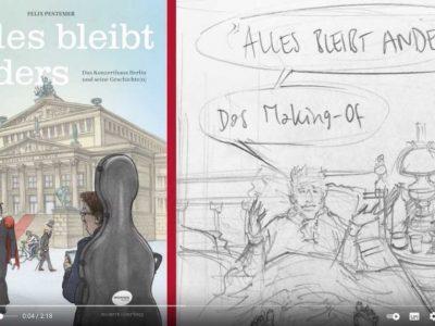 Neues von unseren Gastdozent*innen: Graphic Novel zum 200jährigen Jubiläum des Konzerthauses Berlin von Felix Pestemer